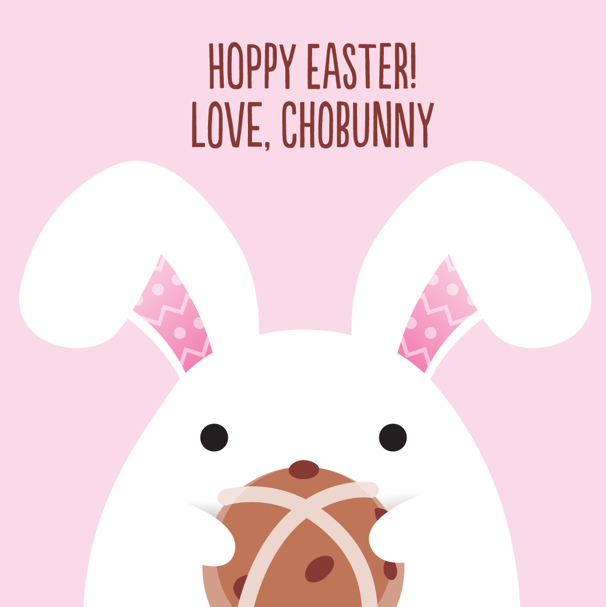 Chobani Chobunny Easter Flip Hot Cross Bun Illustration Copywriting