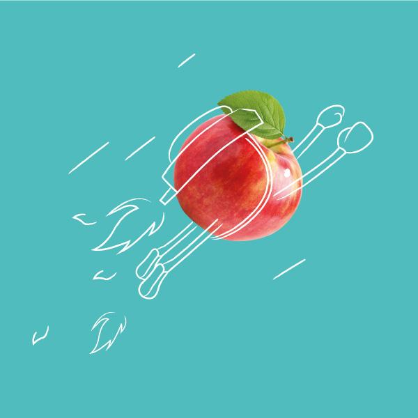 Davidson Branding The Fruit Box Group Illustration Apple Jetpack Visual Language