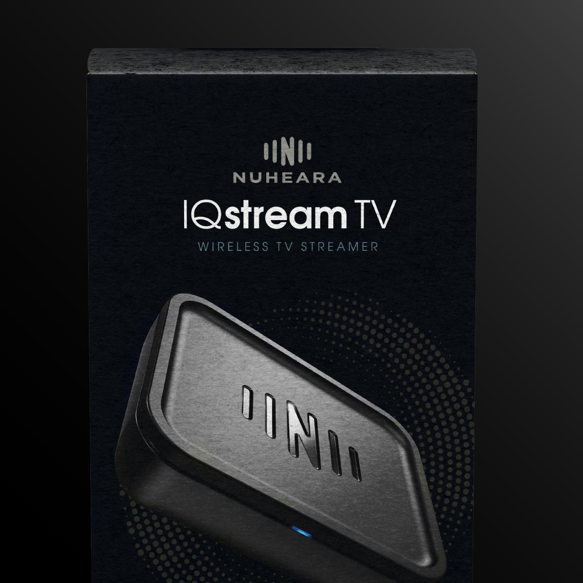 IQ stream TV close up