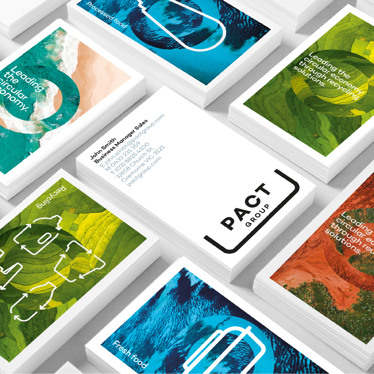 Pact Group Brand Identity Design Corporate Business Cards