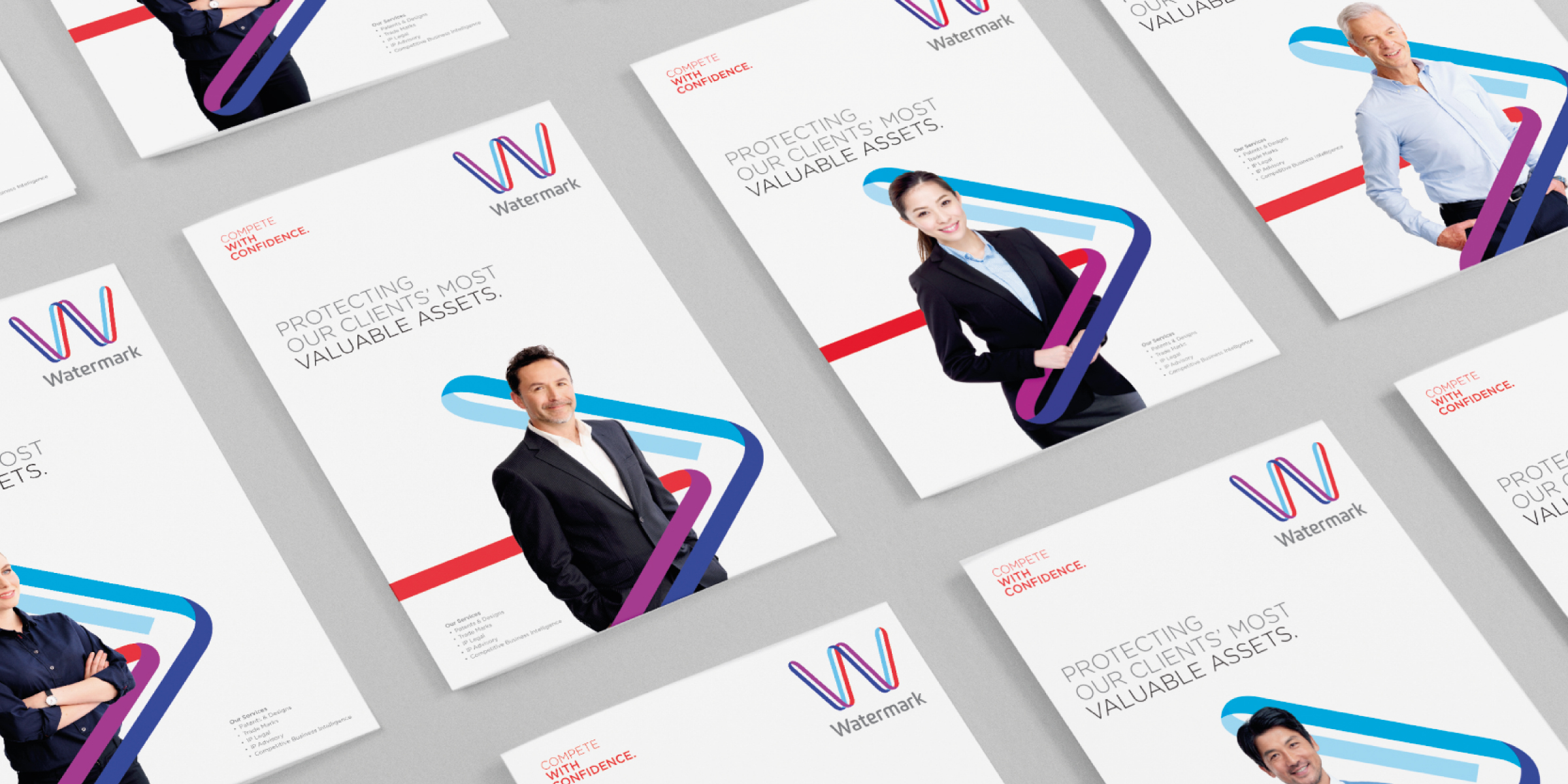 Watermark Brand Identity Brochure Cover Design