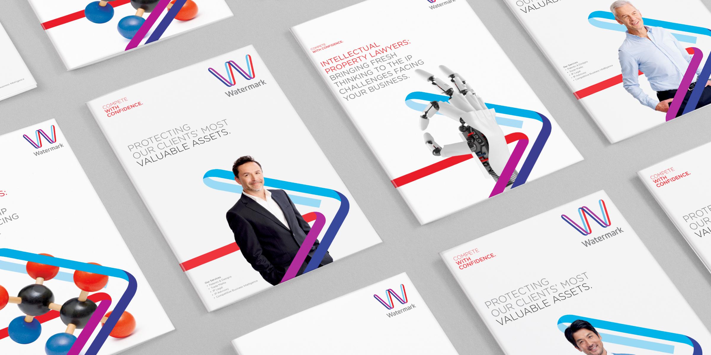 Watermark Brand Identity Brochure Cover Design