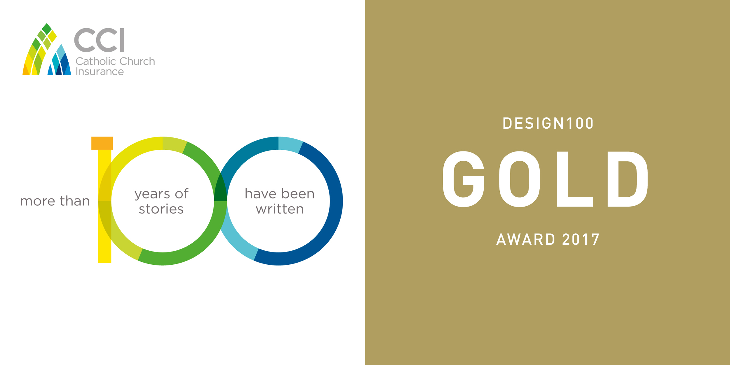 Davidson Branding Catholic Church Insurance CCI Gold Melbourne Design Awards 2017