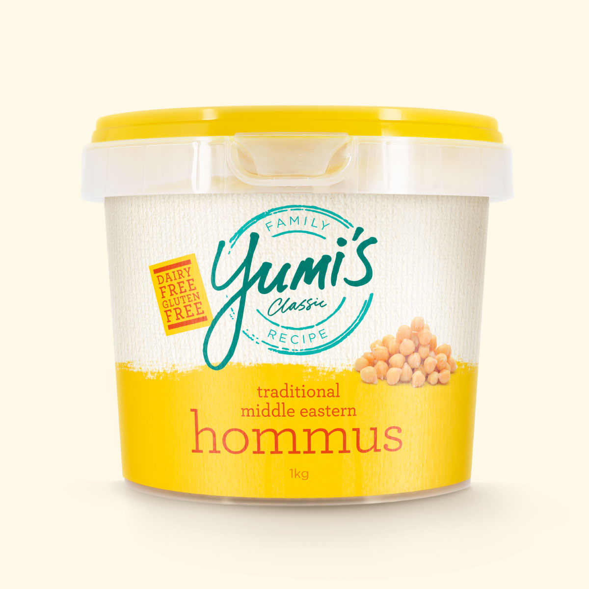 Yumi's Hummus Packaging Brand Identity