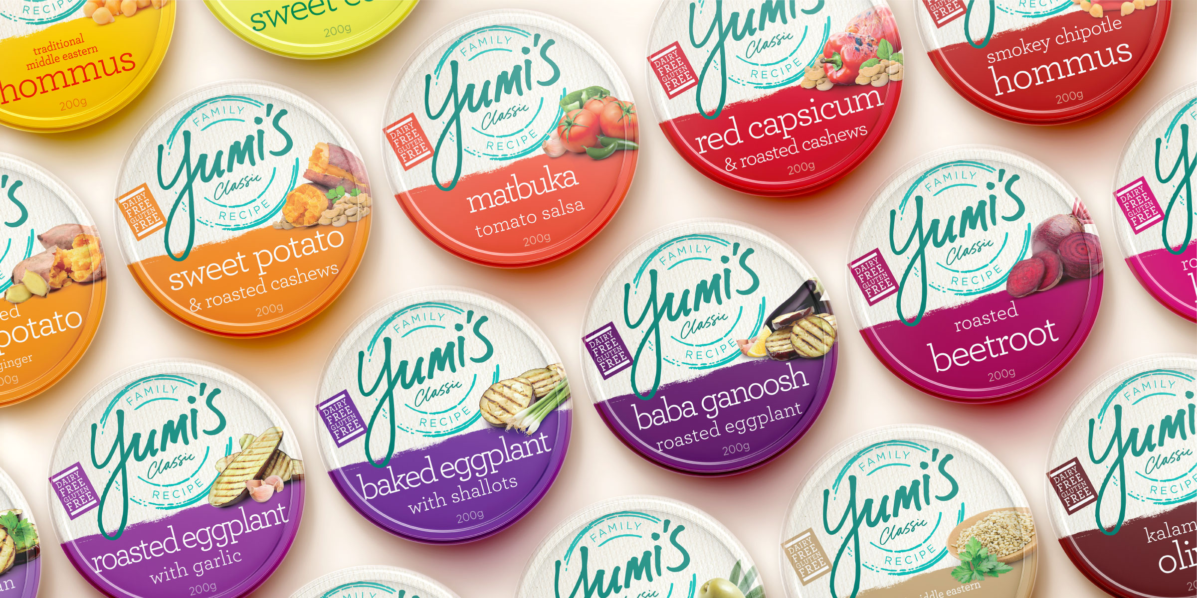 Yumi's Dip Range Packaging Design