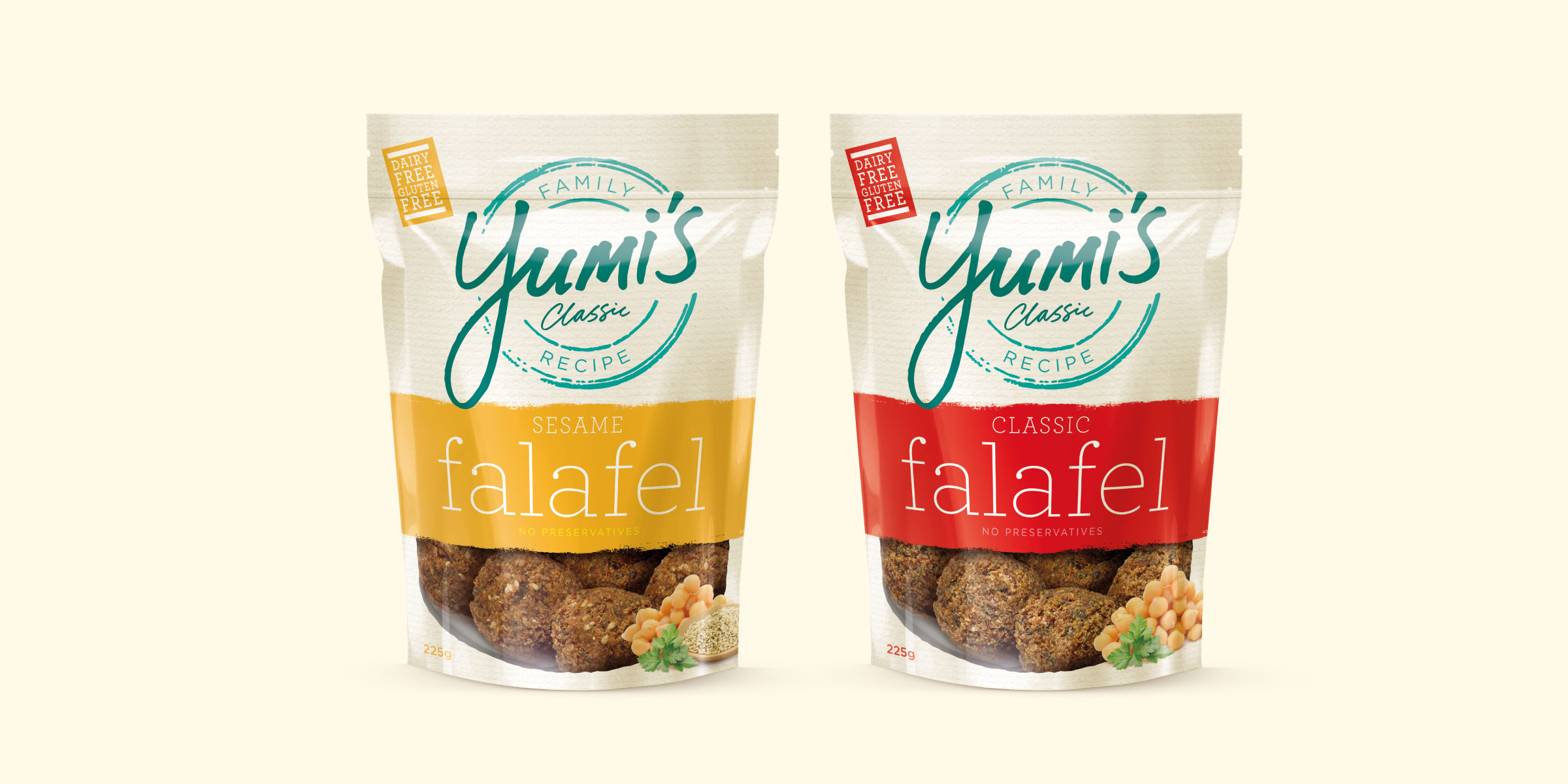 Yumi's Falafel Brand Identity Packaging