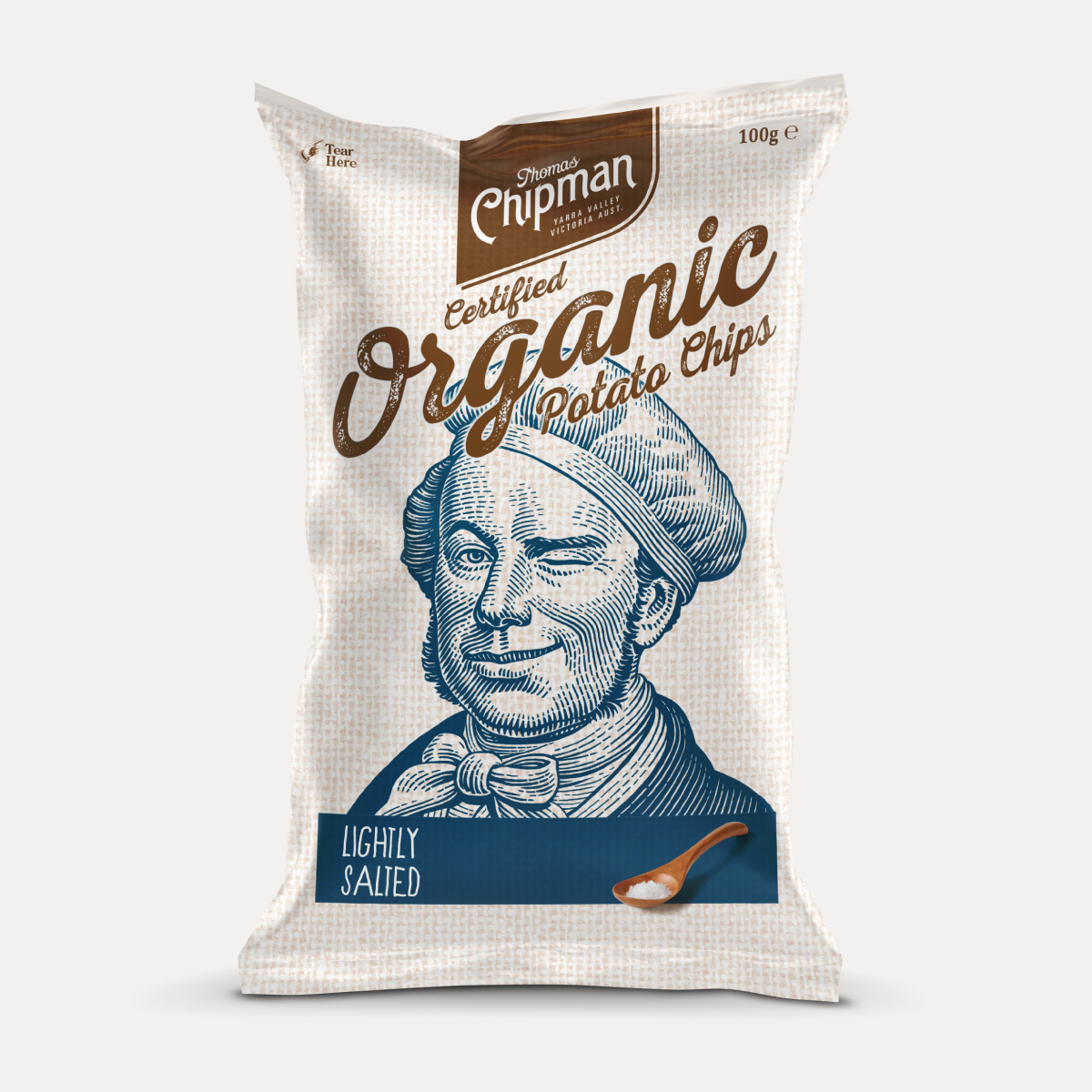 Davidson Branding FMCG Packaging Thomas Chipman Lightly Salted Chips