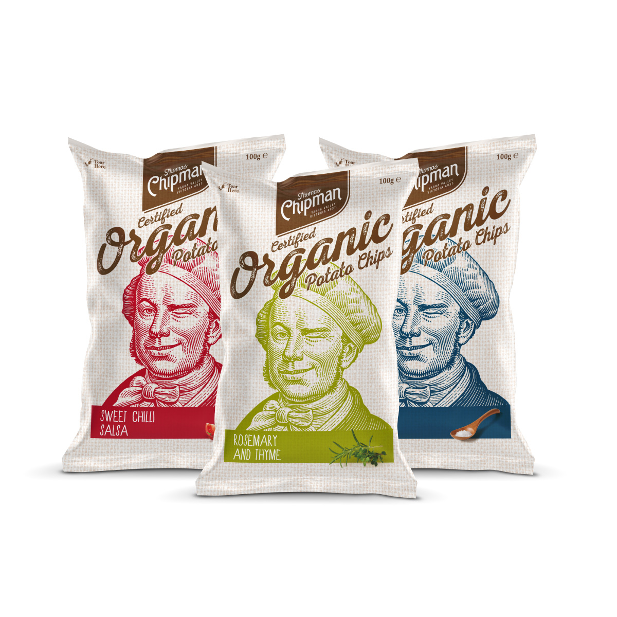 Davidson Branding FMCG Packaging Thomas Chipman Potato Chips Range