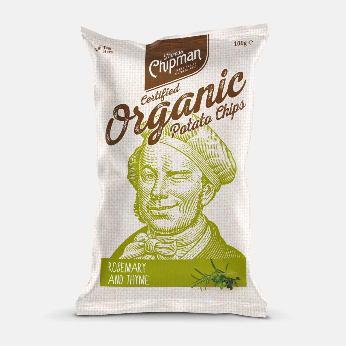 Davidson Branding FMCG Packaging Thomas Chipman Rosemary & Thyme Potato Chips
