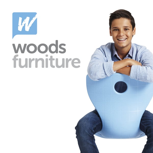 Davidson Branding Woods Furniture Digital Brand Identity Brand Revitalisation Design Melbourne Boy Blue Chair Panto Flex