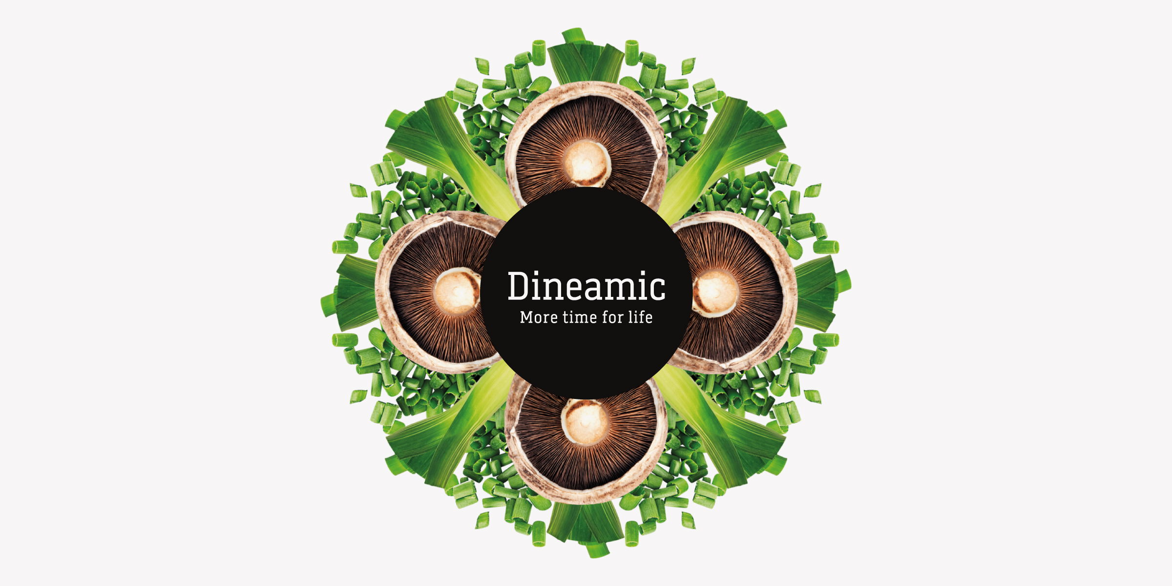 Davidson Branding FMCG Dineamic Packaging Visual Language Kaleidoscope Spring Onion Mushroom Banner