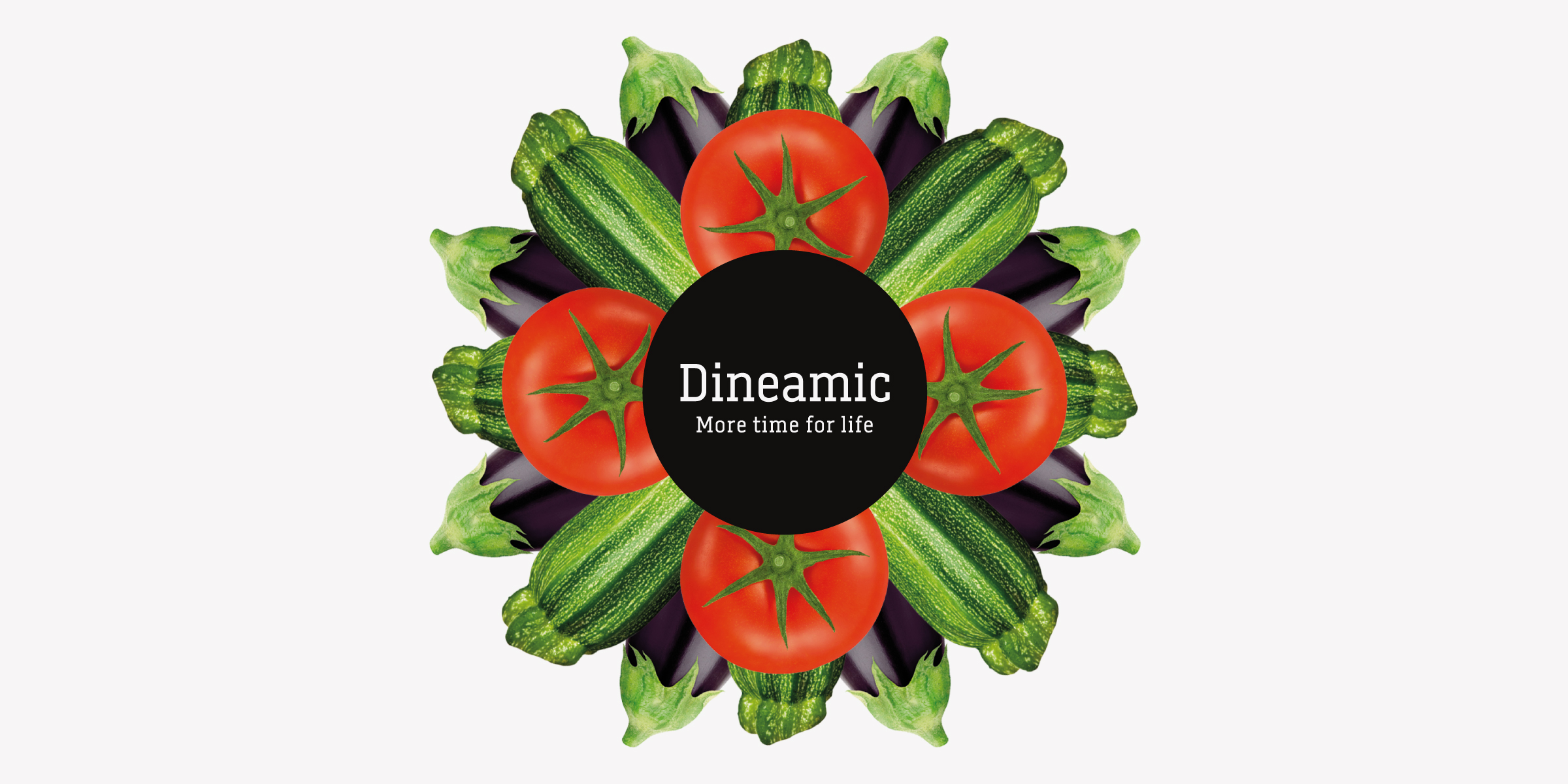 Davidson Branding FMCG Dineamic Packaging Visual Language Kaleidoscope Tomato Zucchini Banner