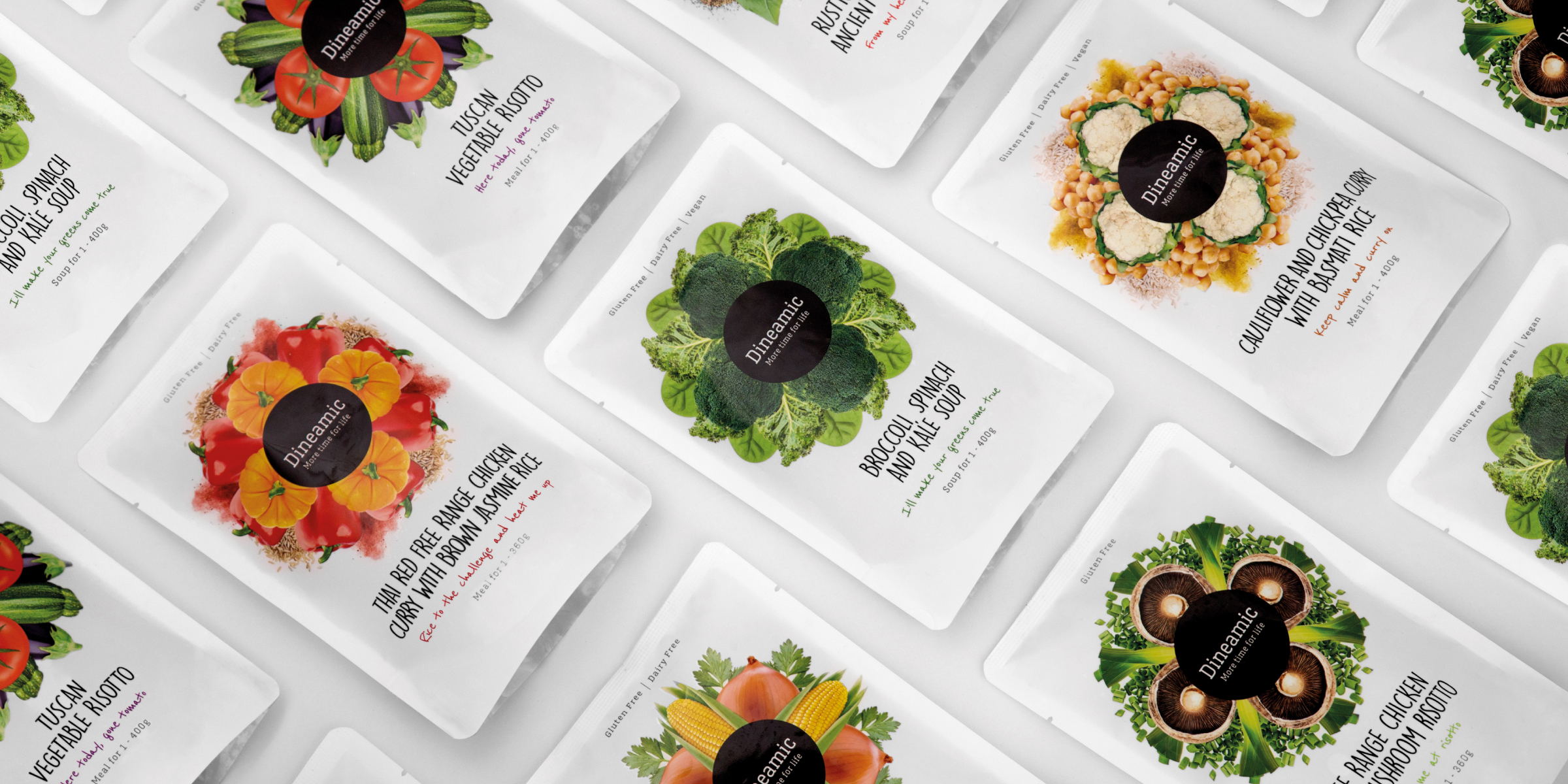Davidson Branding FMCG Dineamic Packaging Range Flat Lay