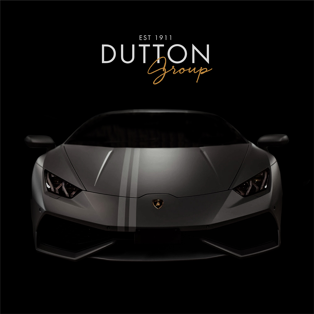 Davidson Branding Digital Dutton Group Stealth Black Lamborghini