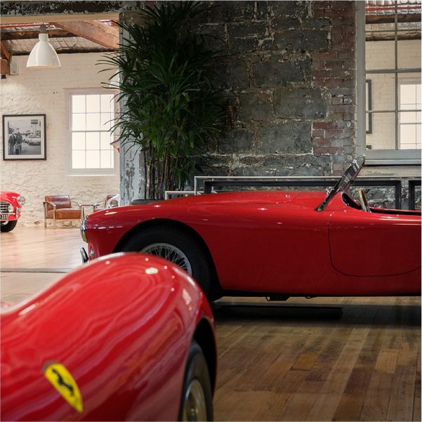 Davidson Branding Dutton Garage Ferrari Showroom Display