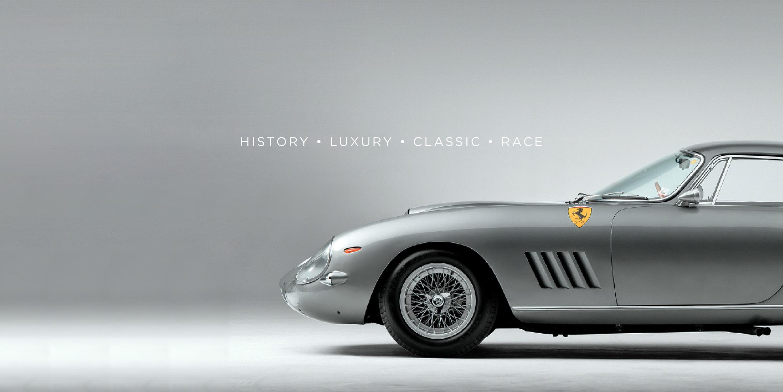 Davidson Branding Dutton Garage Vintage Silver Ferrari