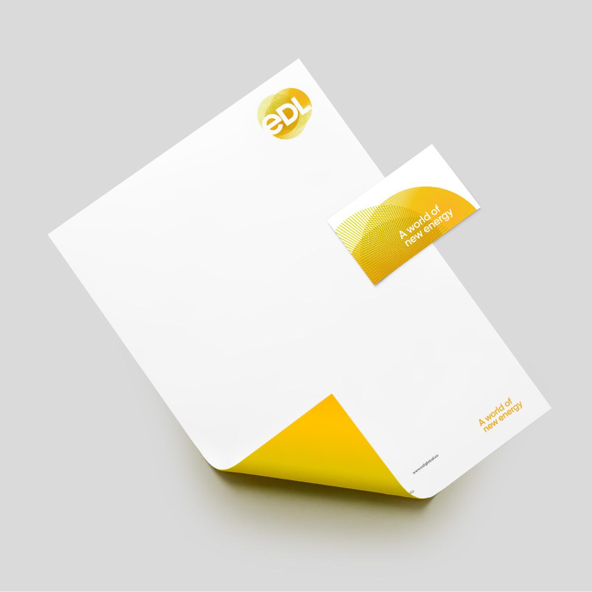 EDL Brand Identity Stationery