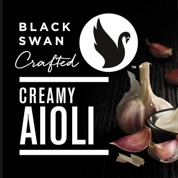 Davidson Branding FMCG Black Swan Crafted Photography Visual Language Creamy Aioli