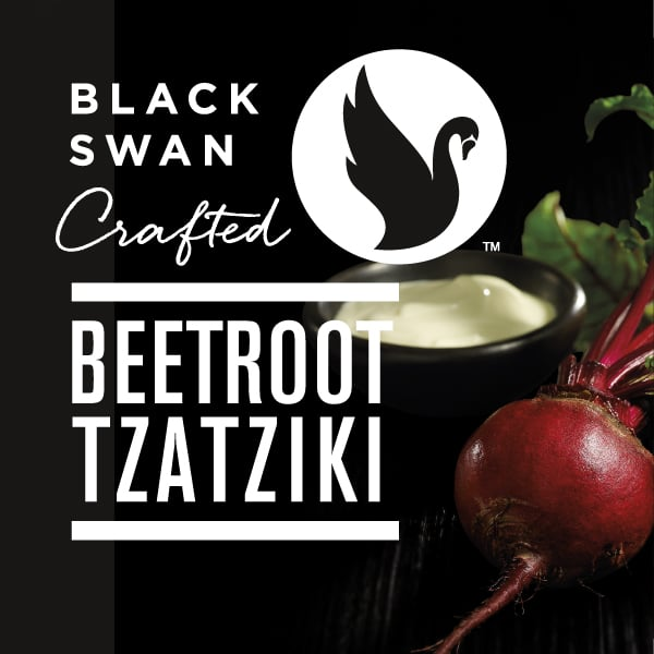 Davidson Branding FMCG Packaging Black Swan Crafted Photography Visual Language Beetroot Tzatziki