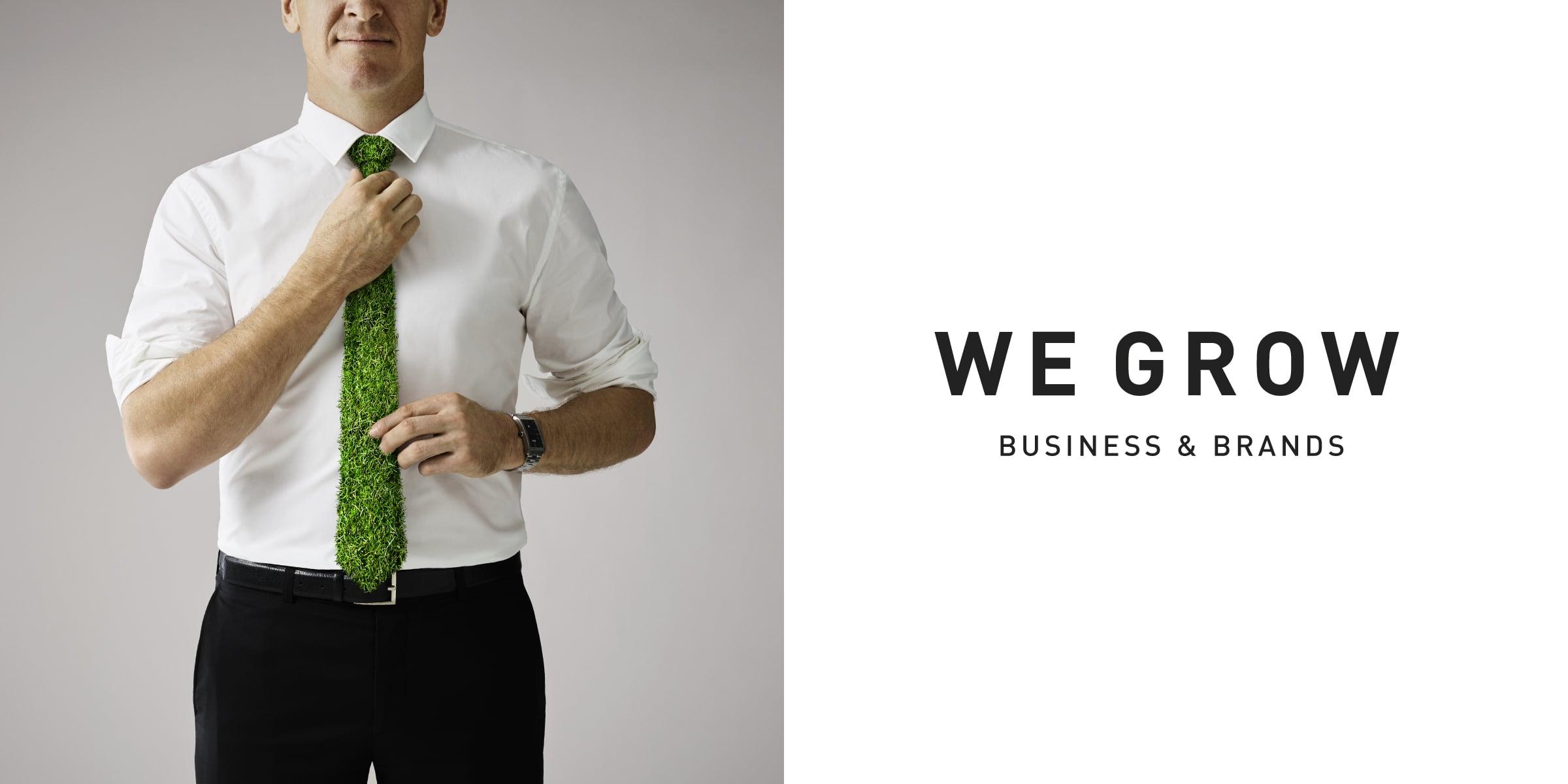Davidson Branding We Grow Business & Brands Corporate Enterprise Grass Tie Shirt