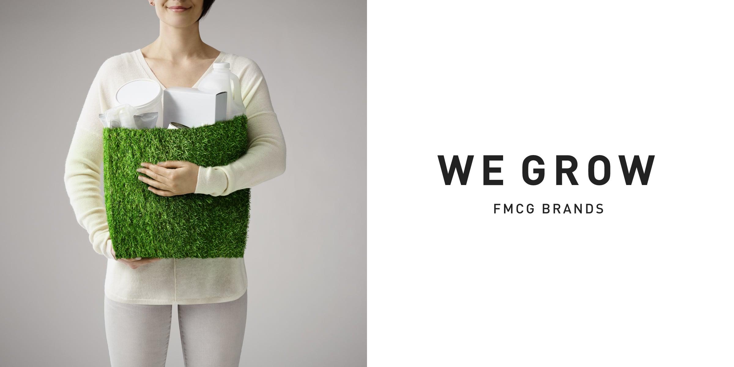 Davidson Branding We Grow Business Fast Moving Consumer Goods FMCG Packaging Grass Bag