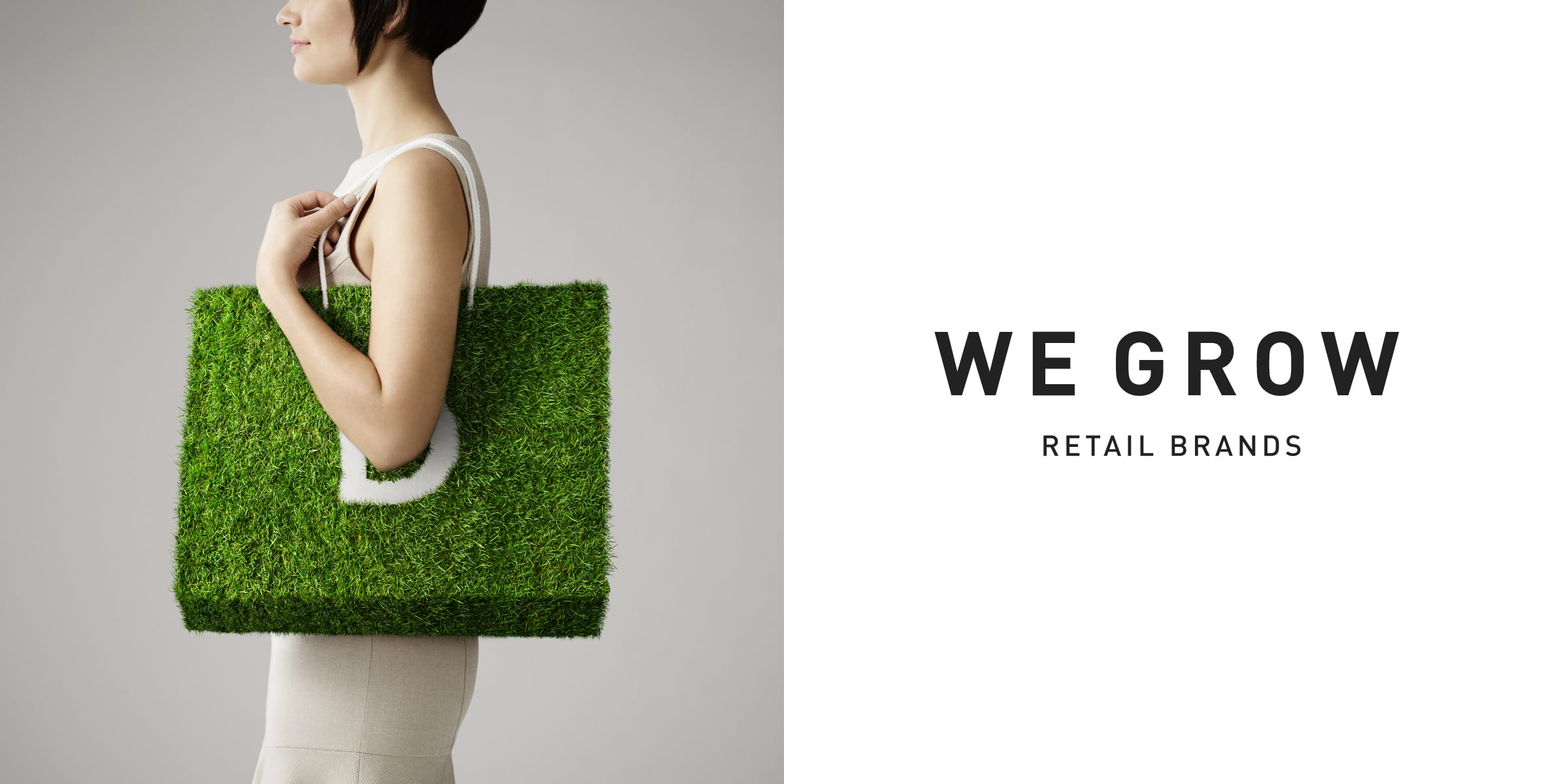 Davidson Branding We Grow Business Retail Grass Bag