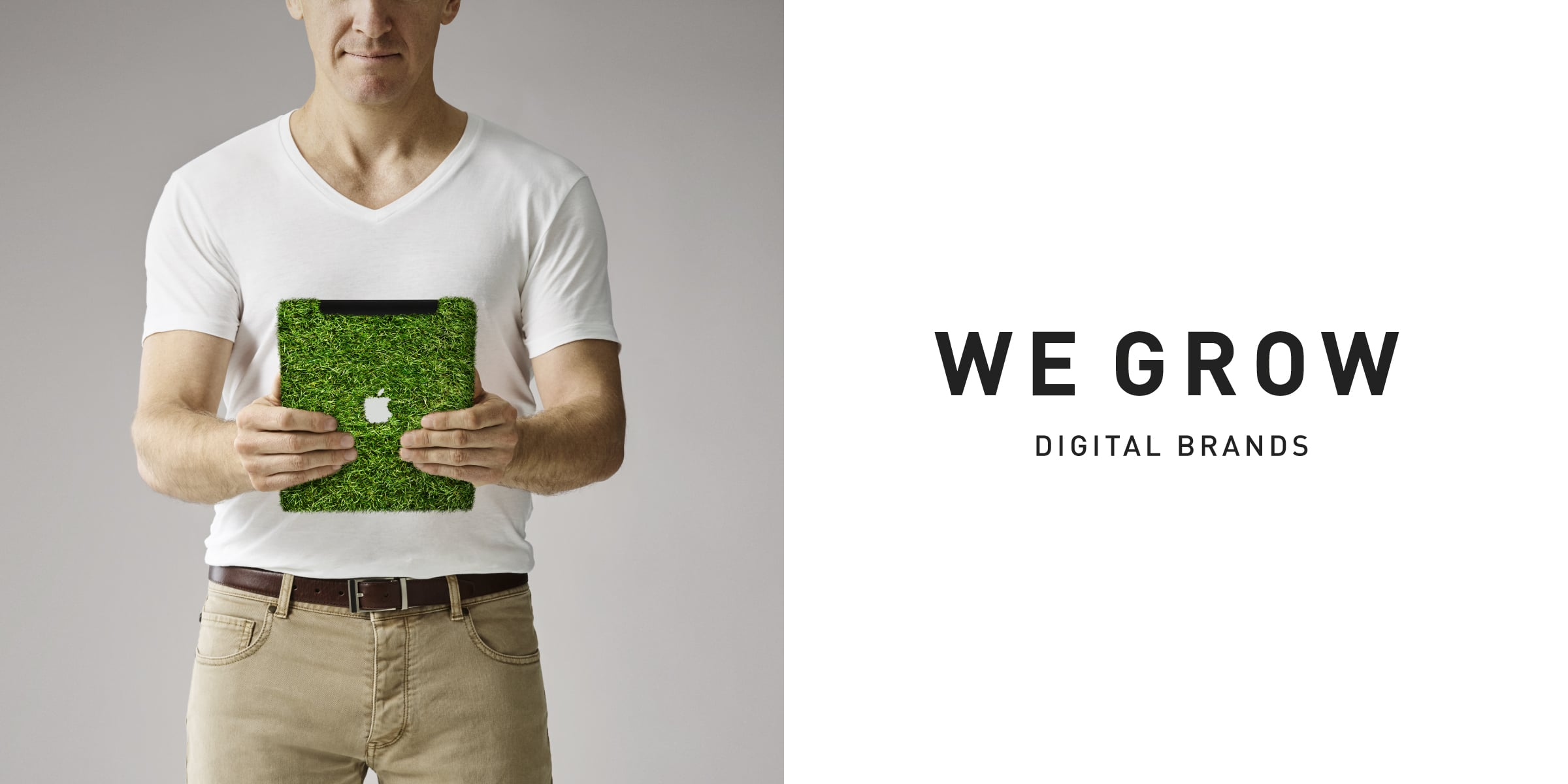 Davidson Branding We Grow Digital iPad Grass
