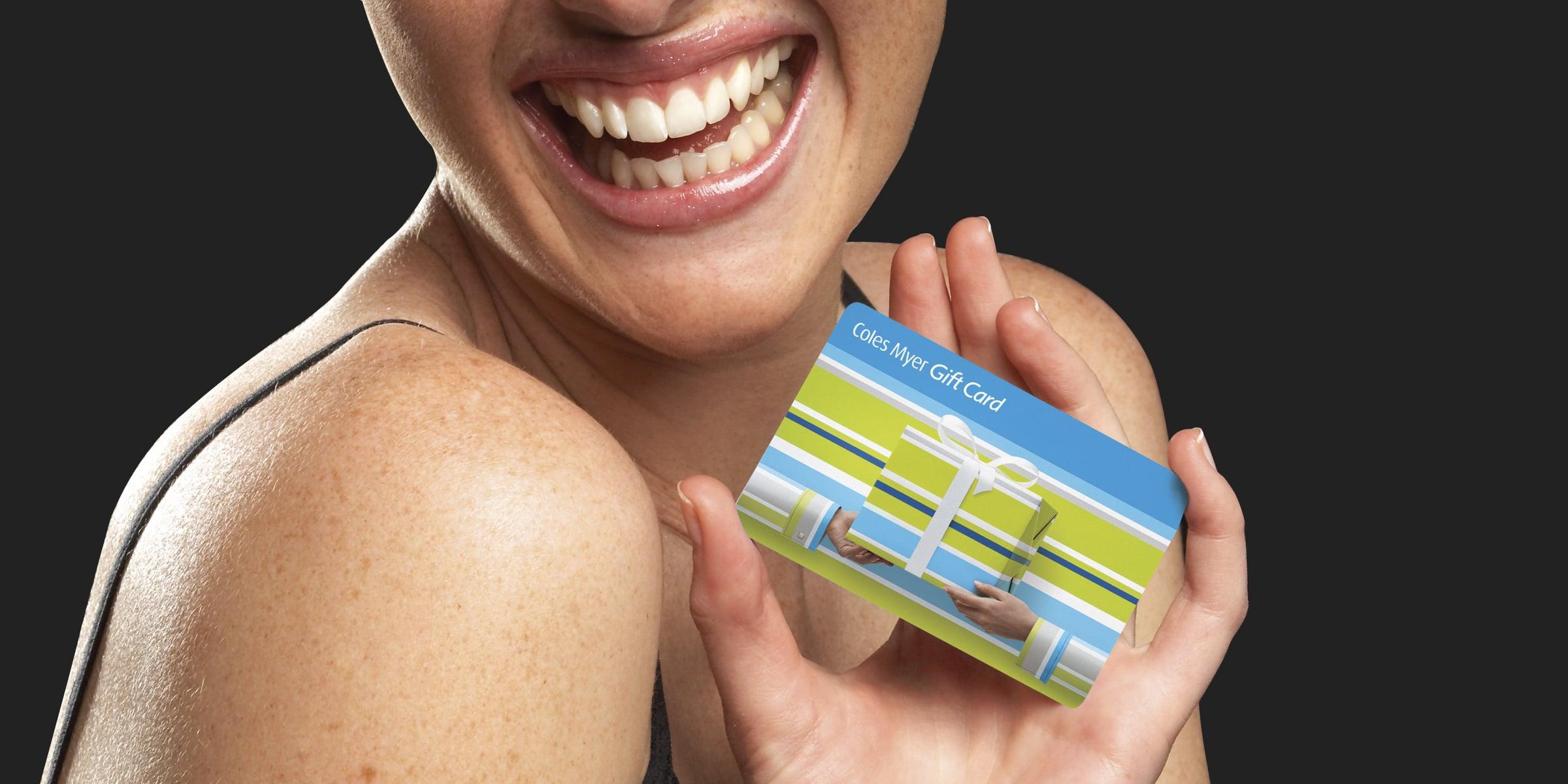 Davidson Branding Coles Myer Gift Card Smile