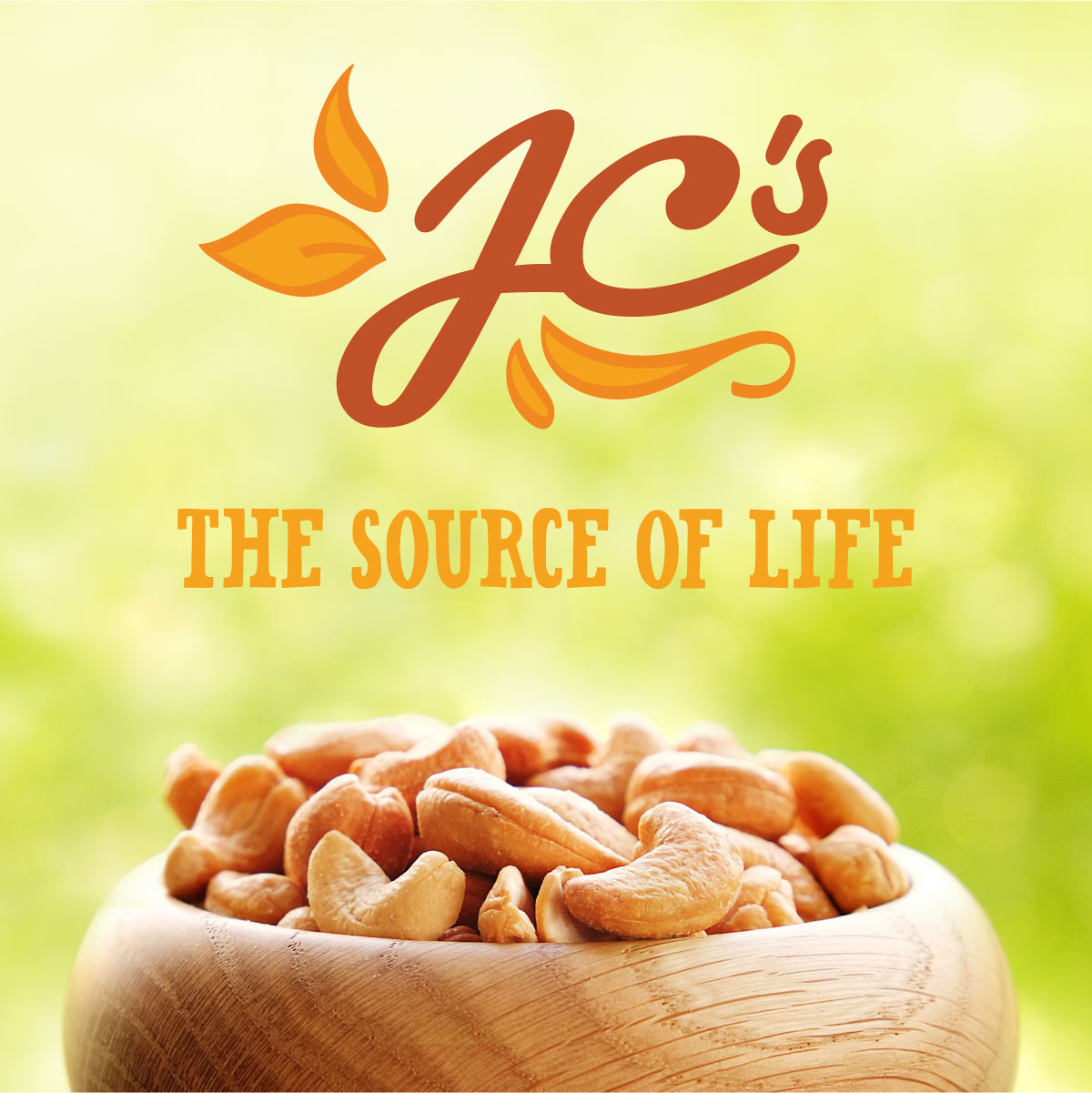 JC's Quality Foods Nuts Brand Identity Packaging Design Digital Website