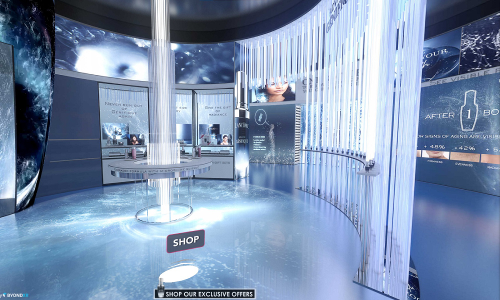 Lancôme virtual pop-up