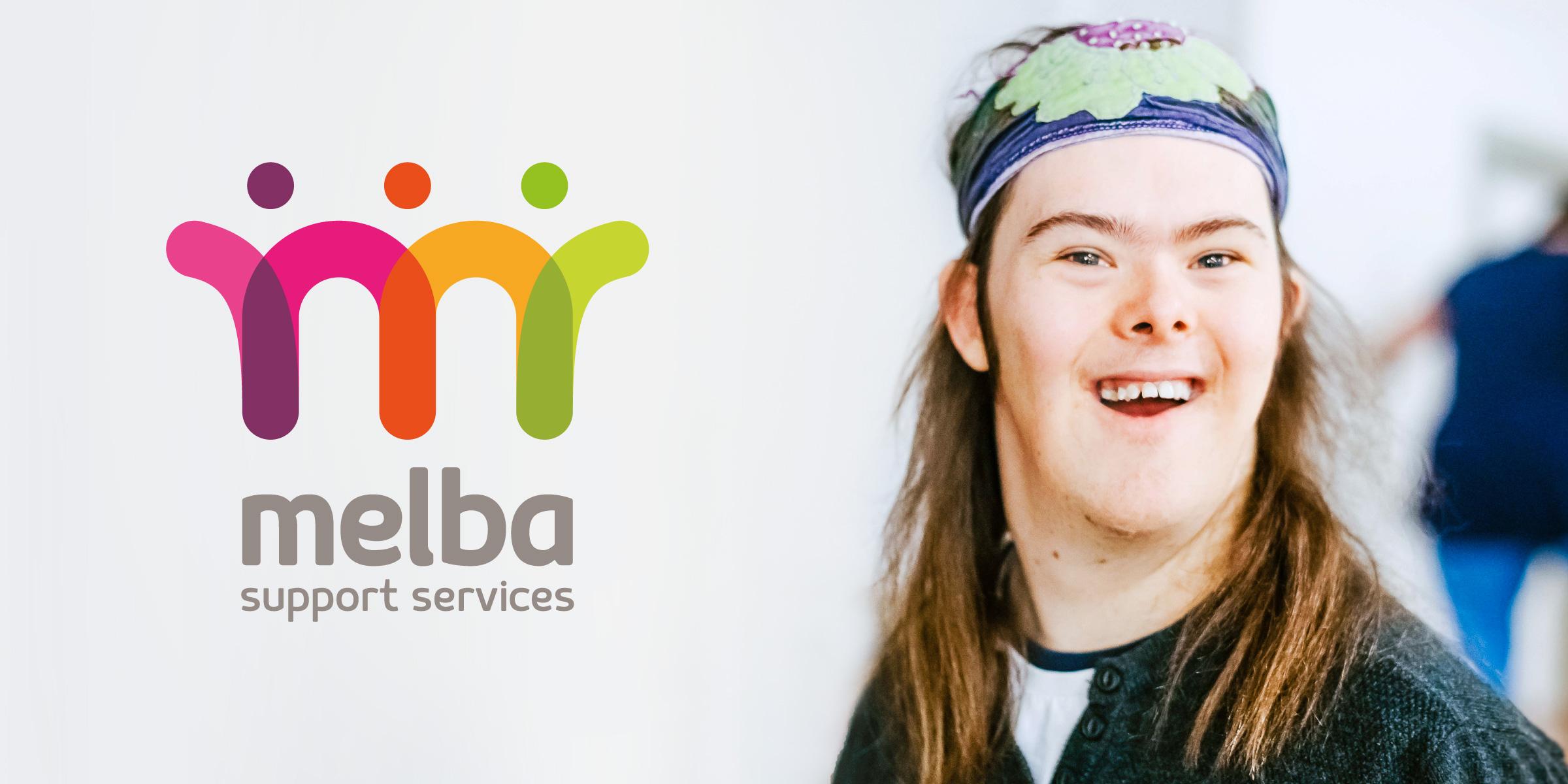 Melba Support Services Brand Logo Design