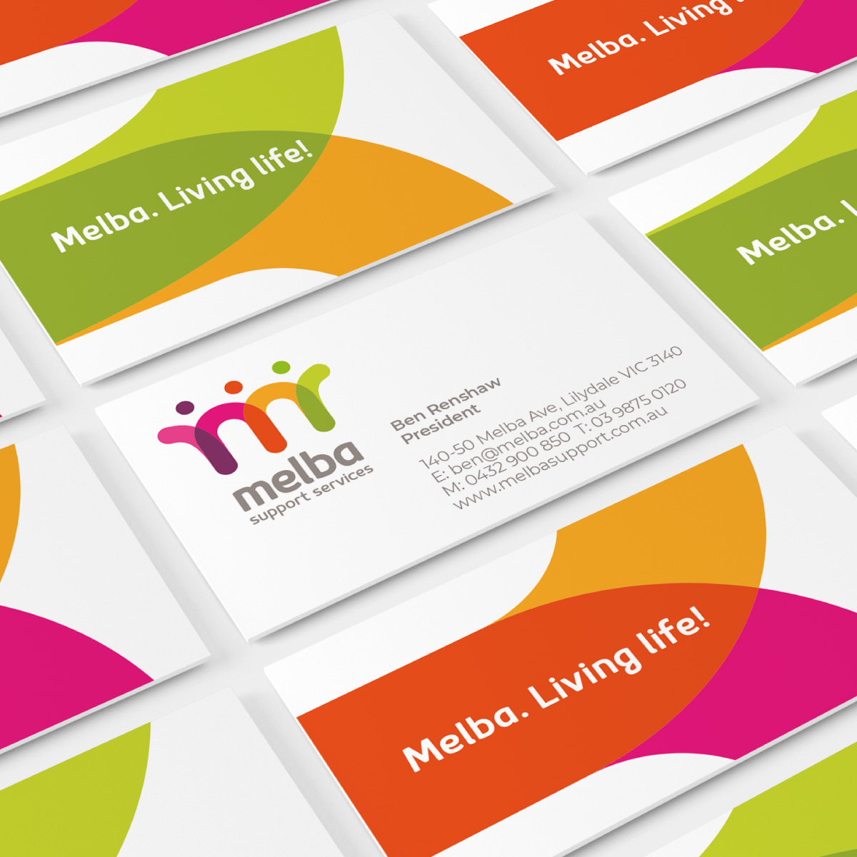 Melba Support Services Business Card Design