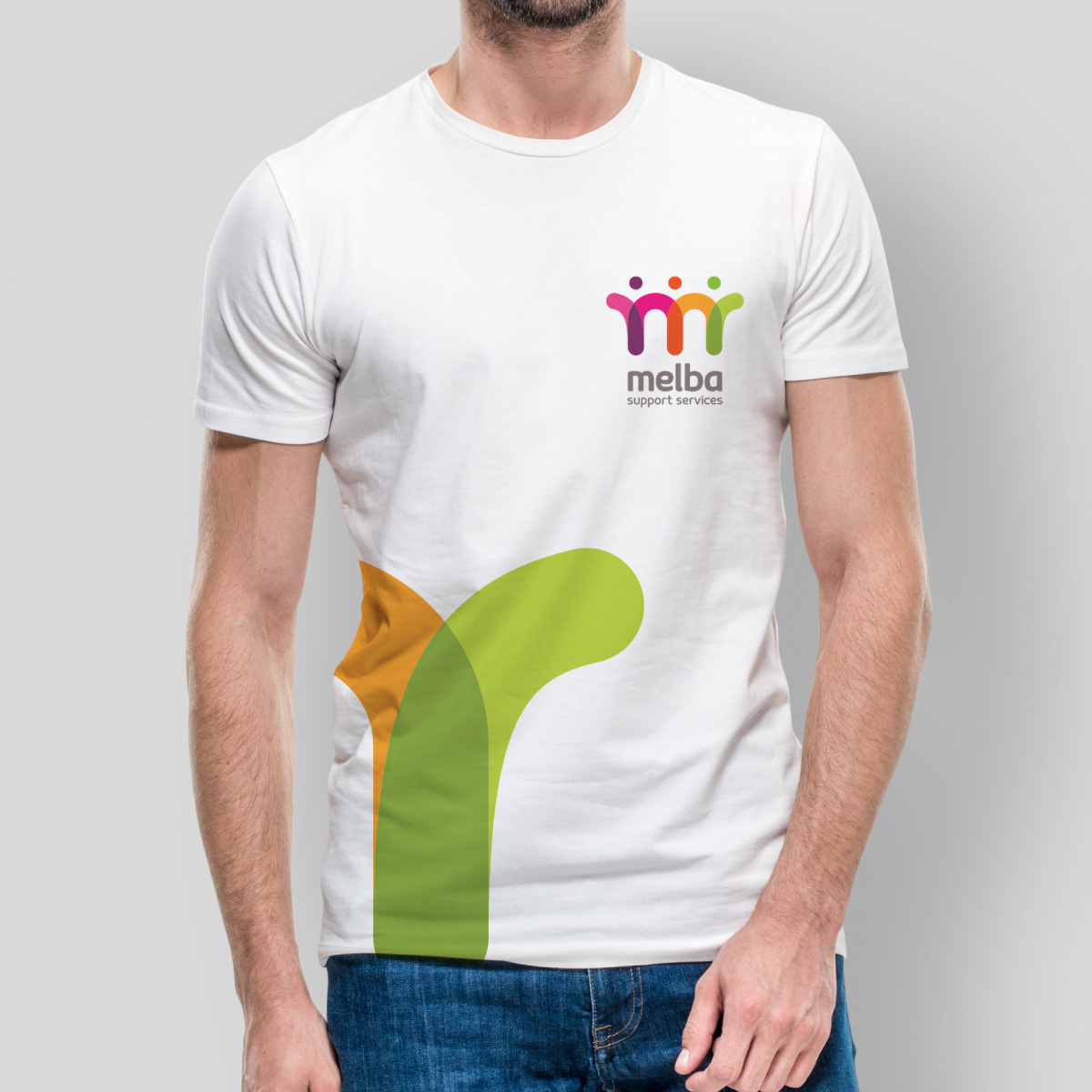Melba Support Services T Shirt Design