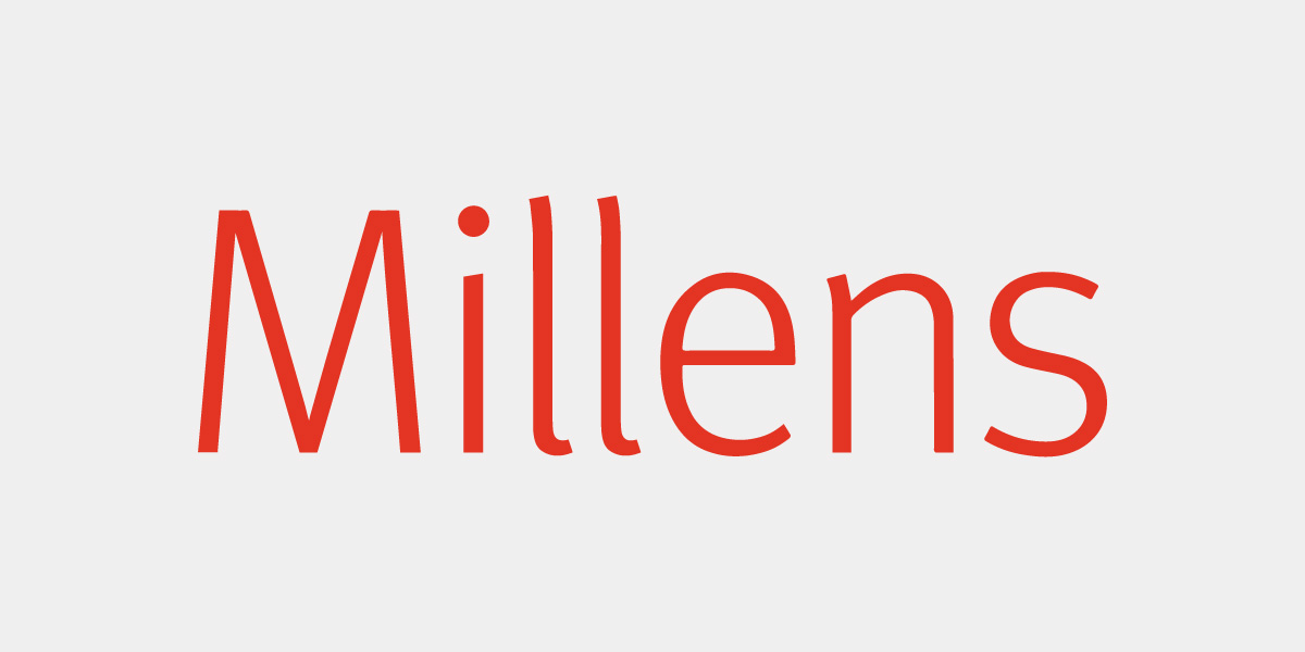 Millens Brand Identity Solicitors Lawyers Digital Brand Identity Typography