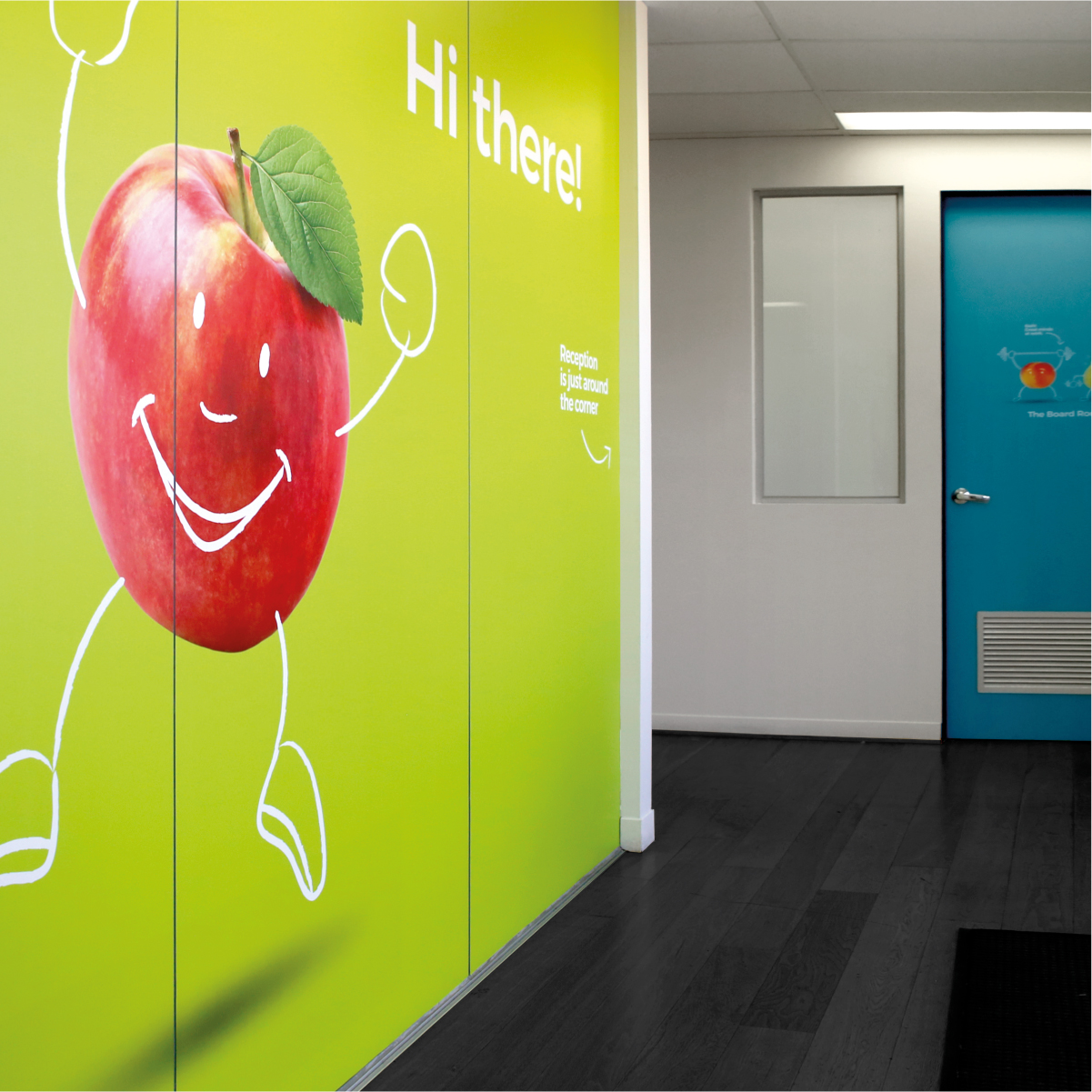 Davidson Branding Business Strategy The Fruit Box Visual Language Entrance Signage