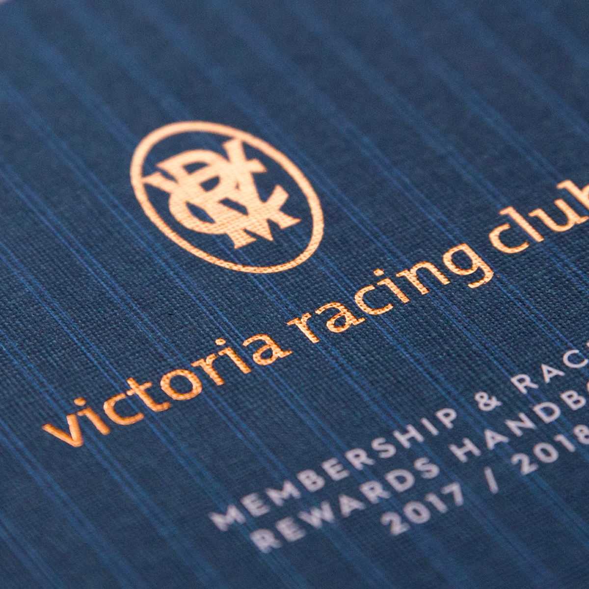 Victoria Racing Club Brand Identity Foil Stamp Logo