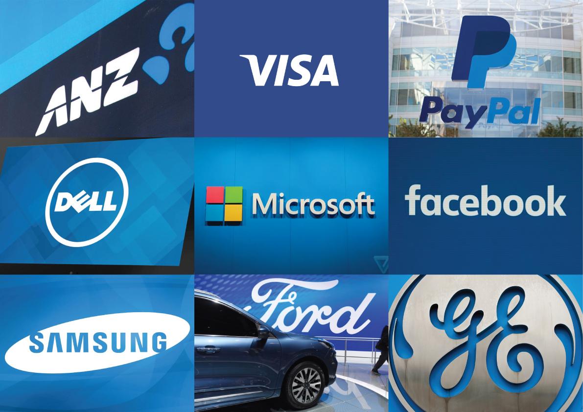 Classic Blue Brand Logos
