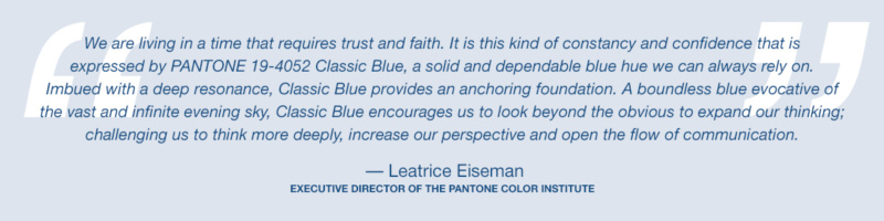 Pantone Colour of the Year 2020 Rationale